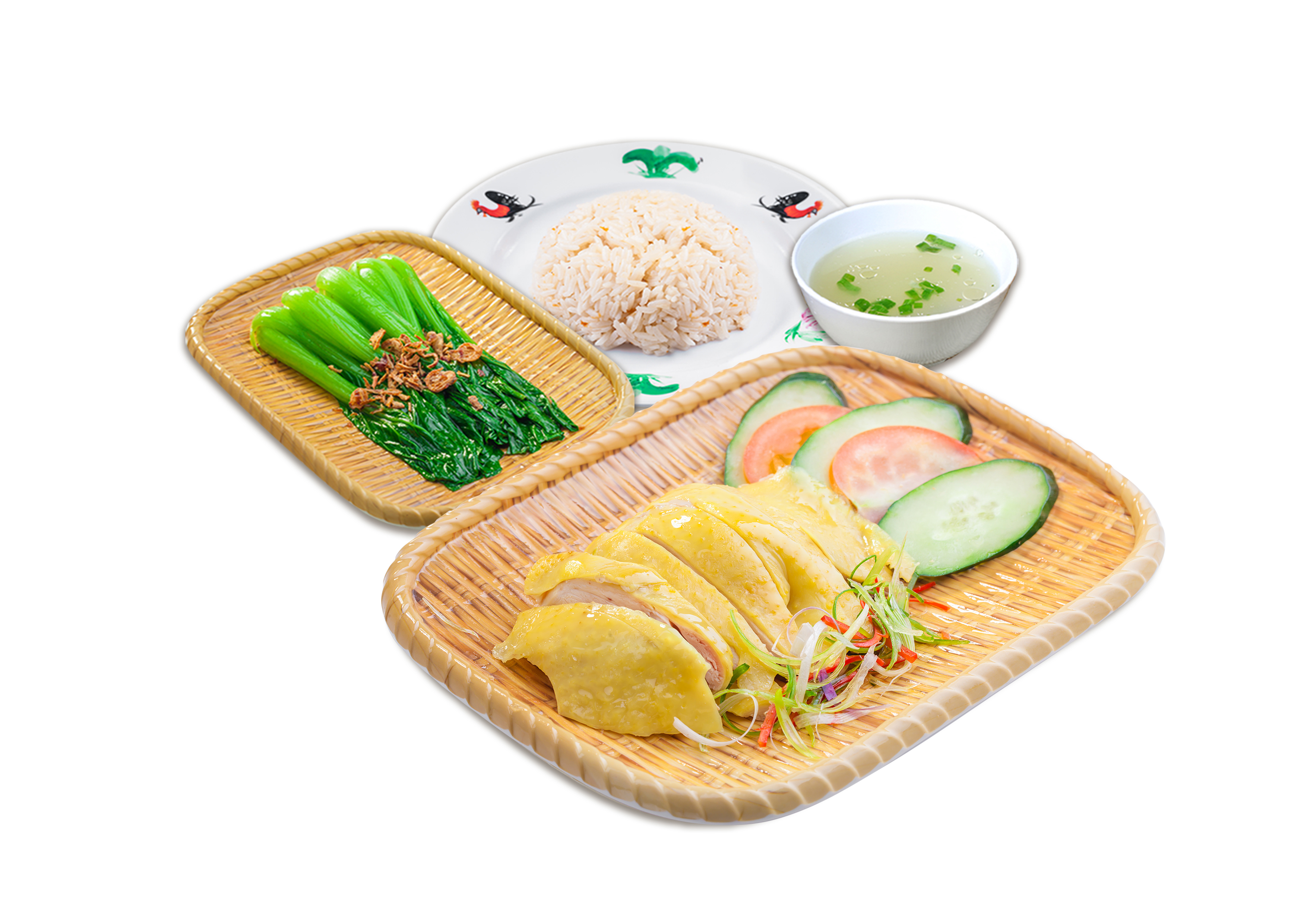 Steamed Chicken Rice Set